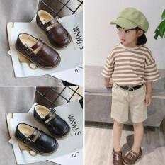Giày Búp Bê Bé Gái Dễ Thương MGBABY Phong Cách Hàn Quốc Màu Đen Trắng Size 21-30 Mã BIN03
