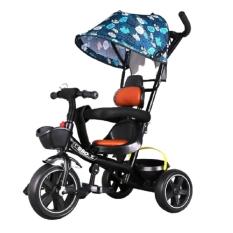 Xe đẩy Senmysan 3B 3 bánh có mái che tay đẩy bàn đạp khung carbon