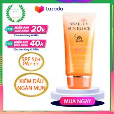 Kem chống nắng cho da mặt dầu Snail JigotT Hàn Quốc kem chống nắng vật lý nâng tone da mặt, không bết dính SPF 50+ PA+++ 70ml