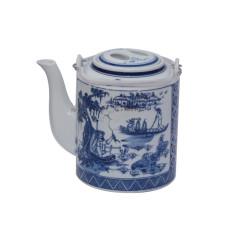 Ấm sứ pha trà – Ấm Tích pha trà Bát Tràng 1.5 Lít