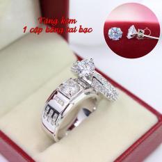 Nhẫn đôi bạc nhẫn cặp bạc đẹp ND0282 – Trang Sức Trường An