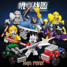 Combo 2 Robot Biến Hình 3 Trong 1 Transformer Lego Hsanhe Đồ Chơi Xếp Hình Lắp Ráp