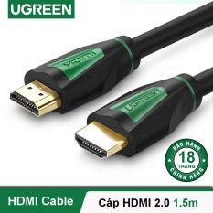 Dây HDMI 2.0 thuần đồng khử Oxy hóa, mạ vàng 24K, dài 1-5M UGREEN HD116