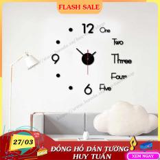 Đồng hồ dán tường trang trí nhà cửa (DHD40) Huy Tuấn