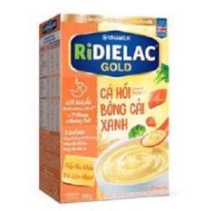 BỘT ĂN DẶM RIDIELAC GOLD CÁ HỒI BÔNG CẢI XANH – HG200G