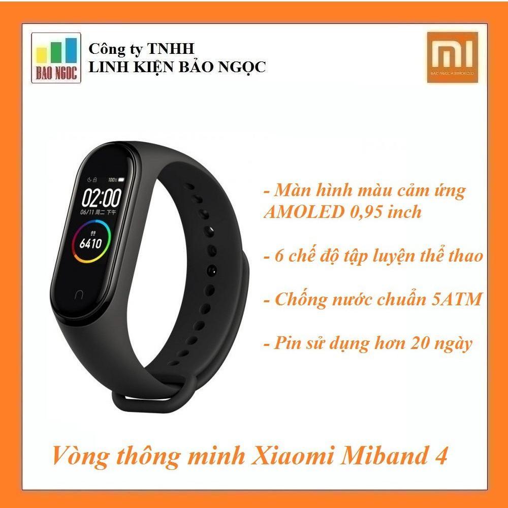 Vòng thông minh Xiaomi Miband 4 - Theo dõi sức khỏe, màn hình cảm ứng Amoled, pin 20 ngày, chống...