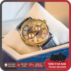 Đồng Hồ Nam Romanson TL4240FMCWH Full Box, Sổ BH Quốc Tế 3 Năm, Chống Xước, Chống Nước, Dây Da Cao Cấp
