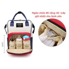 Balo / Túi bỉm sữa cho mẹ bé có ngăn giữ nhiệt sữa thời trang đa năng tiện lợi