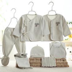 Set 2 bộ quần áo cho bé thun cotton có nón,băng đô và yếm- 115