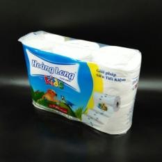 Lốc 6 cuộn giấy vệ sinh lụa Hoàng Long Kids
