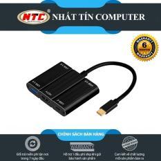 HUB USB TypeC ra 3 cổng USB 3.0 9509S kèm chức năng xuất HDMI – hỗ trợ chất lượng 2K/4K (đen)