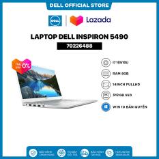 [TRẢ GÓP 0%]Laptop Dell Inspiron 5490 (70226488) Core i7 10510U 14inch FullHD Ram 8GB 512GB SSD Card Màn Hình NVIDIA MX230 2G Win 10 Bản Quyền Silver
