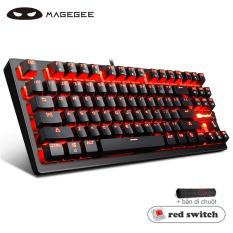 Bàn phím cơ MageGee MK1 TKL 87 phím, có dây và đèn LED với 5 mức độ điều chỉnh, tương thích với Windows 95/ 98/ XP/ 2000/ ME/ VISTA/ 7/ 8/ 10 và MAC OS