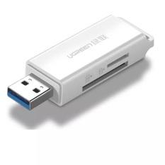 Đầu đọc thẻ nhớ SD/TF chuẩn USB 3.0 màu trắng Ugreen 40753