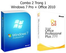 (Combo Win + Office) Windows 7 Pro + Office 2010 – Bản quyền Vĩnh viễn – Active Online