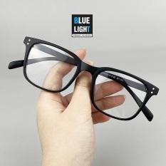 Kính Giả Cận, Gọng Kính Cận Nam Nữ Mắt Vuông Gọng Nhựa Dẻo Đen Nhám Không Độ Hàn Quốc – BLUE LIGHT SHOP