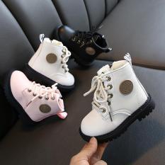 Giày boot trẻ em giày cao cổ lót lông cho cả bé trai và bé gái