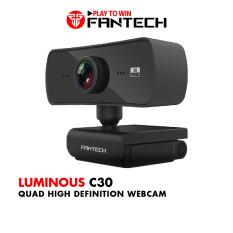 Webcam Livestream Học Tập và Làm Việc Online Chuyên Nghiệp FANTECH C30 LUMINOUS 4MP Hỗ Trợ Quay Chất Lượng 1080p/60fps – Hãng Phân Phối Chính Thức