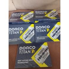 Hộp 100 Lưỡi Lam Dorco Titan Trắng thép không gỉ