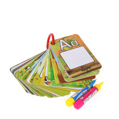 Bộ 26 thẻ tô màu nước cho bé tập vẽ ,có thể được tái sử dụng