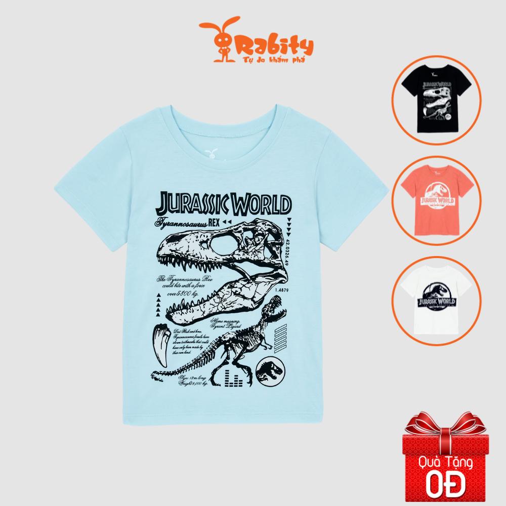 Áo thun khủng long ngắn tay bé trai Rabity 91013.91068.91067