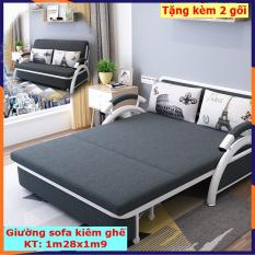 Giường sofa gấp gọn, giường ngủ thông minh, ghế sofa giường nằm đa năng 1m28x1m9