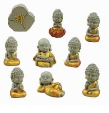 Bộ 9 tượng Phật tuyệt đẹp gốm sứ giúp mang lại nhiều sự may mắn, tài lộc cho gia đình bạn- phù hợp trang trí xe hơi, bàn làm việc, kệ tủ,…