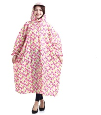 Áo Mưa Bít Vải Dù Siêu Nhẹ Mẫu Hoa Chống Thấm Kèm Túi Đựng ( Màu hoa ngẫu nhiên ).