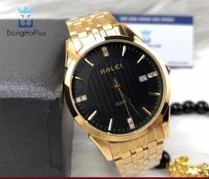 đồng hồ nam halei 562M dây vàng chống nước chống xước tốt
