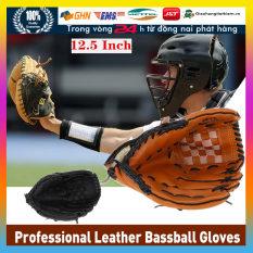 【Trong 24h gửi hàng】12.5 inch găng tay bóng chày Da Cao Cấp Chuyên Dụng