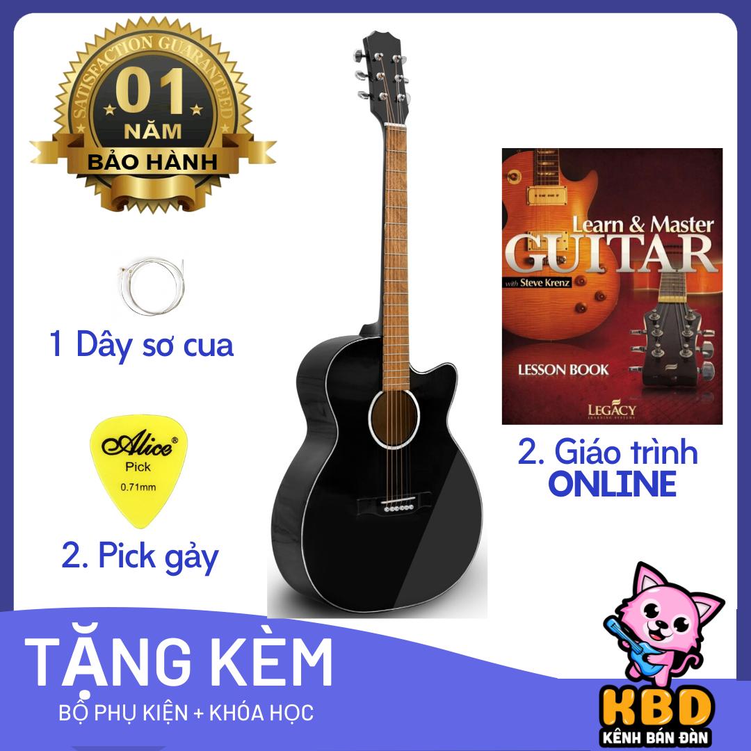 Đàn Guitar Acoustic S75 có ty chỉnh cần [TẶNG KÈM KHÓA HỌC] – gia công tỉ mỉ mang đến âm thanh sáng và vang