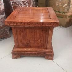 Đôn vuông kê tượng gỗ hương , kê tượng,kê cao đỉnh đồng , kê đồ phong thuỷ , kê loa, đôn gỗ mặt 35cm cao 35cm