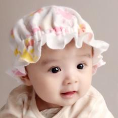 Mũ bèo cotton sơ sinh cho bé gái M-18
