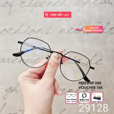 Gọng kính mắt tròn kim loại thời trang nữ 29128 – Gọng kính cận Lilyeyewear kèm quà