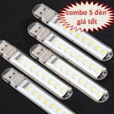 Đèn usb 8 LED siêu sáng ( combo 5 đèn)