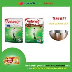 Bộ 2 Hộp sữa bột Anlene Gold Movepro hương Vanilla và Chocolate 440g Tặng Tô inox