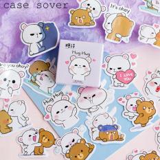 Hộp 45 Sticker Chủ Đề Gấu Yêu Thương Trang Trí Planner – Case Sover