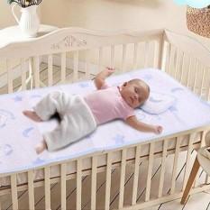 Chiếu lụa điều hòa kèm gối cho trẻ em, Chiếu lụa cao cấp cho bé (60cm x 120cm) TT
