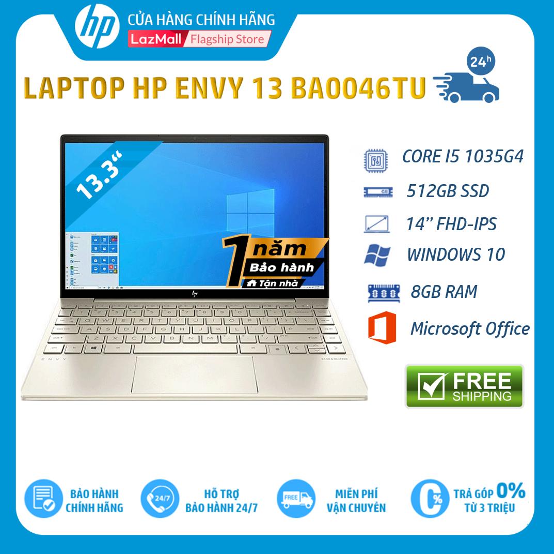 [Nhập LZDEL51 giảm 10% tối đa 200k cho đơn 99k] [Trả góp 0%] Laptop HP ENVY 13-ba0046TU (Core i5-1035G48GB RAM512GB SSD13.3″FHD Win 10 Home 64OfficeGold1Y WTY-171M7PA – Hàng chính hãng