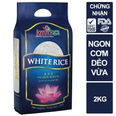 Gạo Ngọc Sen Lotus Rice 2kg – Cơm ngon dẻo vừa – Gạo ngon chuẩn xuất khẩu