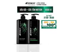 Combo Dầu gội nước hoa X-Men for Boss Motion 650g + Sữa tắm nước hoa X-Men for Boss Motion 650g