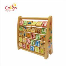 Bảng chữ cái bằng gỗ Alphabet Colligo