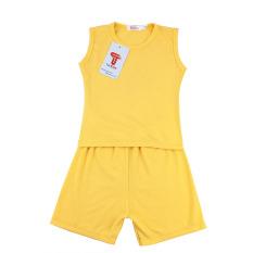 TANOSA KIDS Bộ ba lỗ màu trơn chất vải cotton siêu mát mềm mại an toàn cho bé từ 8-22kg