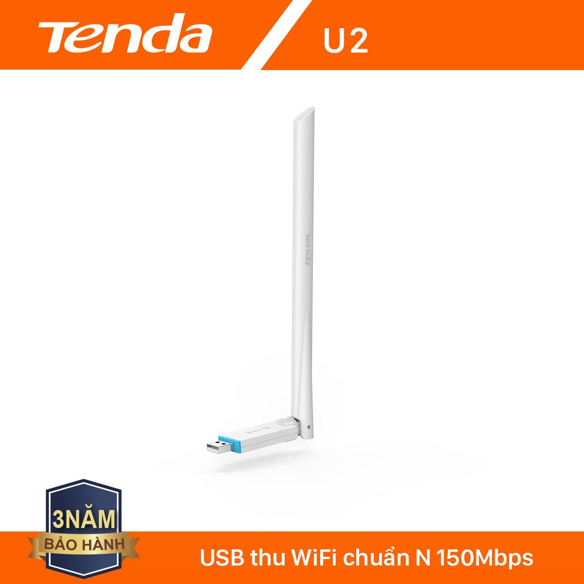 Tenda USB kết nối Wifi U2 tốc độ 150Mbps – Hãng phân phối chính thức