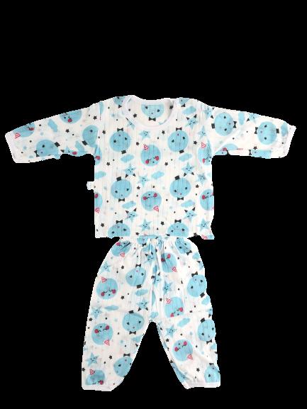 TANOSA Bộ dài tay cotton giấy biết thở thoáng khí khuy vai tiện dụng cho bé yêu từ 6-15kg