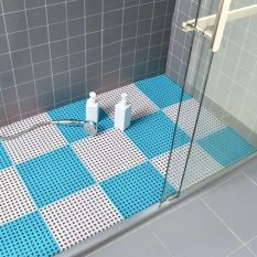 Tấm Thảm Nhựa Kháng Khuẩn Chống Trơn Trượt Nhà Tắm Nhà Vệ Sinh( 30x30cm một tấm). Thảm trải sàn nhựa lỗ kháng khuẩn