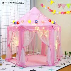 Lều công chúa hoàng tử cho bé kèm đèn nháy trang trí Lều ngủ cho bé
