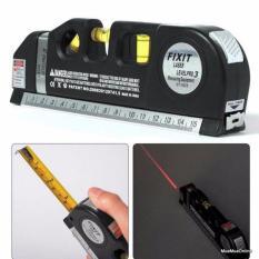Thước Đo Laser Fixit 2 Tia Dọc Ngang Đa Năng Cao Cấp + Tặng Kèm 3 Viên Pin