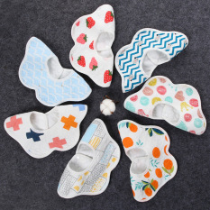 Yếm tròn xoay 360, yếm ăn dặm cho bé chất liệu cotton mềm mịn họa tiết đáng yêu có lớp chống thấm -Y5