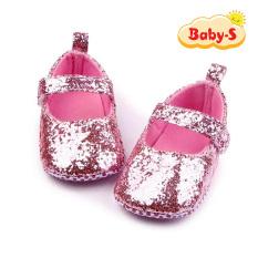 Giày tập đi cho bé gái từ 0 – 18 tháng tuổi quai dán tiện lợi cho bé thoải mái tập đi hoạ tiết kim tuyến màu trơn đơn giản xinh yêu Baby-S – STD13